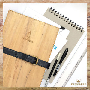 Vegan Leather Folder with Ring Bind - Jacinto & Lirio