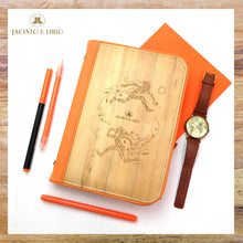 Load image into Gallery viewer, Laró A5 Habulan Personalized Traveler's Planner Wallet (Zesty Orange) - Jacinto & Lirio