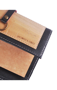 Artisan Dual Cover Refillable Vegan  Journal or Passport or  Sleeve- Mini - Jacinto & Lirio