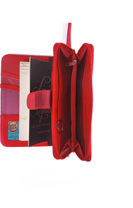 Likhain A6 Ring Binder Dateless Monthly Weekly Planner Wallet Organizer (Crimson Red) - Jacinto & Lirio
