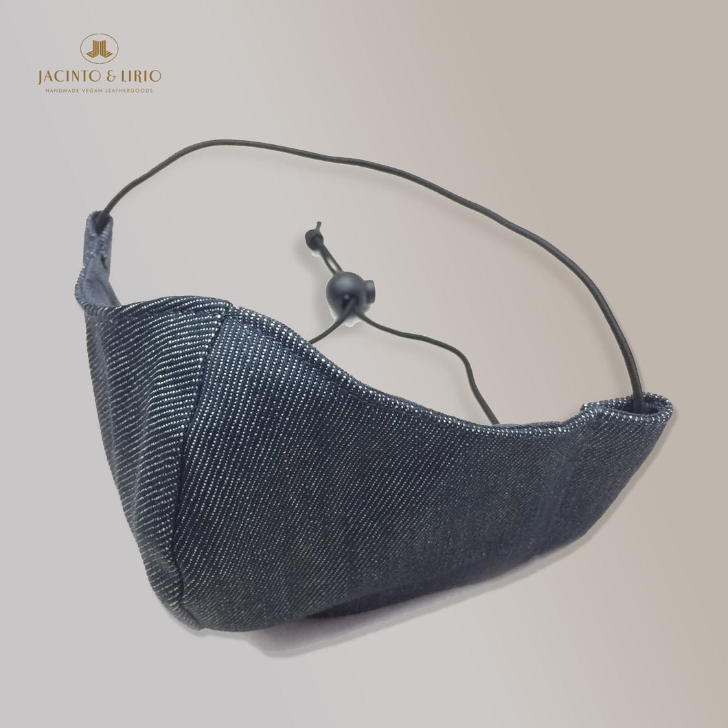 3 Ply Washable Elastic Headloop with Adjuster Denim Masks for Adults, Teens and Kids with Integrated Filter and Extra Pocket - Jacinto & Lirio