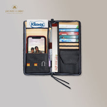 Load image into Gallery viewer, Bucket List Zippered Checkbook Wallet Essentials Purse with Retractable Wristlet - Jacinto & Lirio