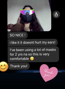 Facebook review: it doesn't hurt her ears and very comfy