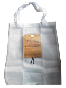 Foldable Eco Bag with Water Hyacinth Accent - Jacinto & Lirio