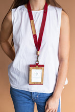 Load image into Gallery viewer, Obra ID Badge Faux Leather Lanyard with Vegan Leather Accents - Jacinto & Lirio