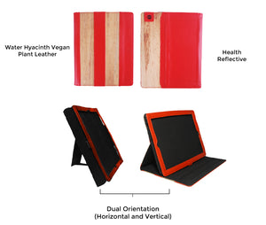 iPad Vegan Leather Heat Reflective iPad Case with Horizontal and Portrait Orientation ICVH - Jacinto & Lirio