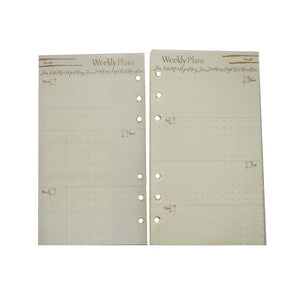 Likhain Planner A6 Loose Leaf 6 Ring Refills - Jacinto & Lirio
