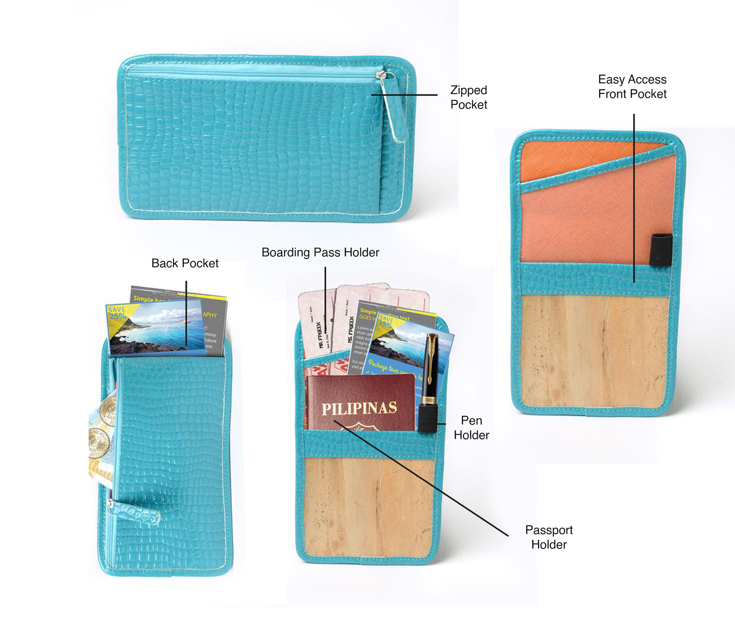 Lakbay Travel Essentials Kit - Turquoise - Jacinto & Lirio