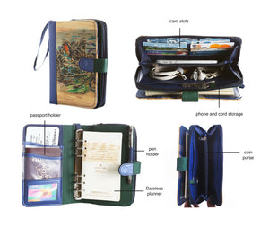 Likhain A6 Ring Binder Dateless Monthly and Weekly Vegan Planner Wallet Mobile (Maria Makiling)