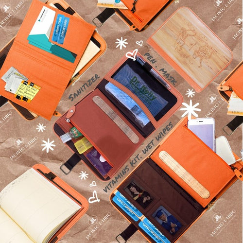 Habulan Laró A5 Personalized Traveler's Planner Wallet- Zesty Orange - Jacinto & Lirio