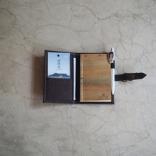 Load image into Gallery viewer, Pacem II Refillable Journal/Passport Sleeve Mini (Caramel Brown)