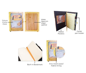 Pinto Medium Personalizable Passport Holder or Refillable Vegan Leather Journal - Jacinto & Lirio