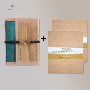 1 Dual Cover Refillable Vegan Leather Journal + 2  Blank Notebook Journal Inserts – 8x6 Bundle - Jacinto & Lirio