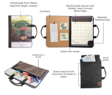 Load image into Gallery viewer, Alamat Vision Board Monthly Vegan Leather Desk Planner (Pakwan) - Jacinto & Lirio
