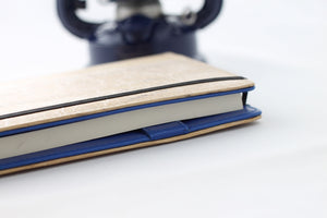 Perseverance Refillable Executive Vegan Journals with Card Holders - Blue