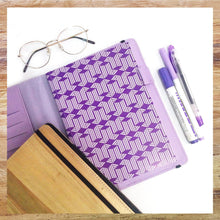 Load image into Gallery viewer, Perseverance A5 Executive Journal Refillable with Card Holders (Lilac) - Jacinto & Lirio