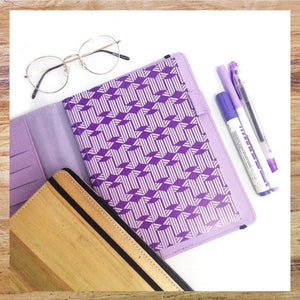 Perseverance A5 Executive Journal Refillable with Card Holders (Lilac) - Jacinto & Lirio
