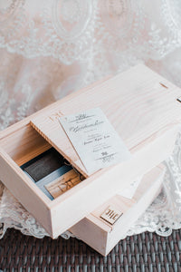 Kakaiba Wooden Box with Wooden Slide Cover