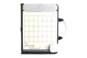 Alamat Vision Board Monthly Vegan Leather Desk Planner (Saging) - Jacinto & Lirio