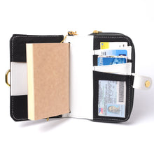 Load image into Gallery viewer, Fauna Refillable Vegan Leather Undated Mini Planner with Magic Wallet Purse -  Midnight Black