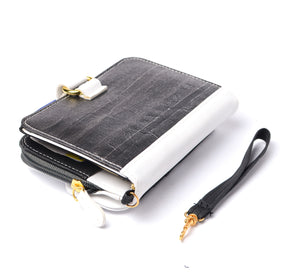Fauna Refillable Vegan Leather Undated Mini Planner with Magic Wallet Purse -  Midnight Black