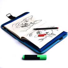 Load image into Gallery viewer, Laró A5 Luksong Tinik Personalized Traveler's Wallet Planner (Sky Blue) - Jacinto & Lirio