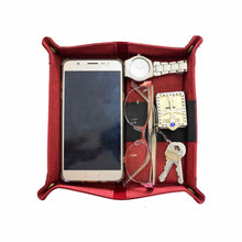 Load image into Gallery viewer, Guhit Vegan Leather Valet Tray Organizer Wallet Pencil Case, Glasses Case (Wine Red) - Jacinto & Lirio