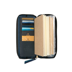 Zippered Refillable Vegan Leather Fiesta Traveler's Notebook Standard Size - Ati Atihan - Jacinto & Lirio