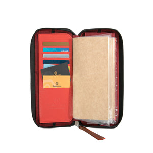 Zippered Refillable Vegan Leather Fiesta Traveler's Notebook Standard Size - Masskara - Jacinto & Lirio