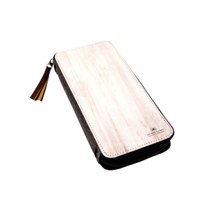 Zipped Vegan Fiesta Traveler's Notebook (Standard Size) - White as Snow - Jacinto & Lirio