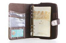 Load image into Gallery viewer, Likhain A6 Ring Binder Dateless Monthly and Weekly Vegan Planner Wallet Mobile (Choco Brown))