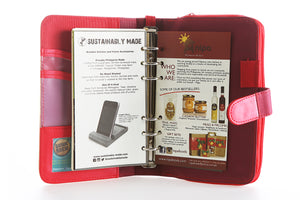Likhain A6 Ring Binder Dateless Monthly and Weekly Vegan Planner Wallet Mobile (Adarna with baybayin) - Jacinto & Lirio