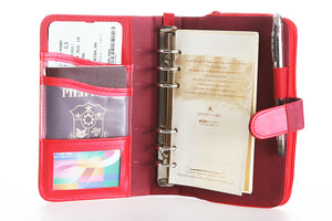 Likhain A6 Ring Binder Dateless Monthly and Weekly Vegan Planner Wallet Mobile (Adarna with baybayin)