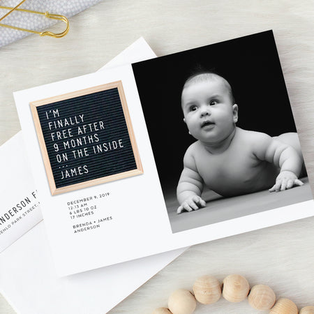 Letter Board Birth Announcements by Fine Moments