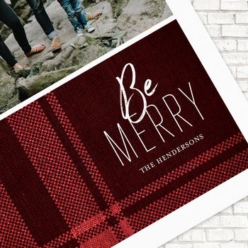 Custom Holiday Photo Cards, Plaid Holiday Cards, Foil Holiday Cards, Modern Holiday Cards