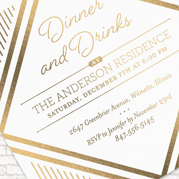 Misc Party Invitations, Party Invitations, Modern Party Invitations, Dinner Party Invitations