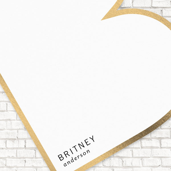 Personalized Stationery, Monogram Stationery, Foil Pressed Stationery, Modern Stationery