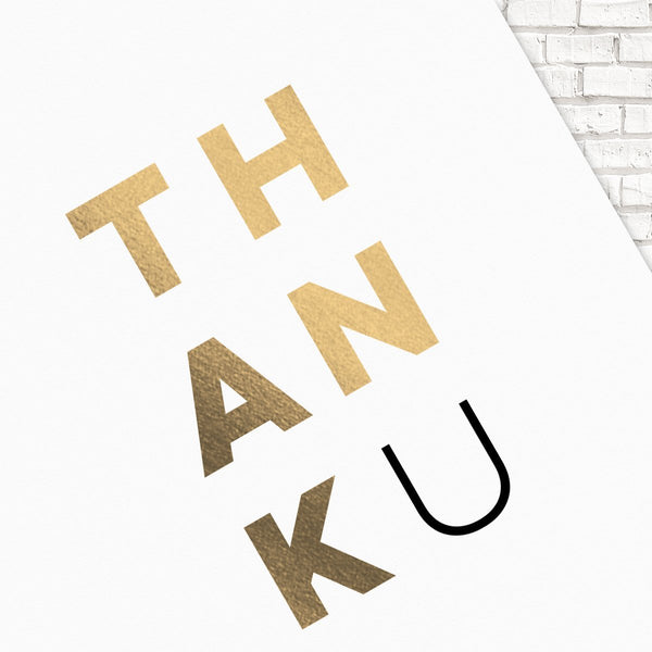 Thank You Cards, Foil Thank You Cards, Custom Thank You Cards, ThankU