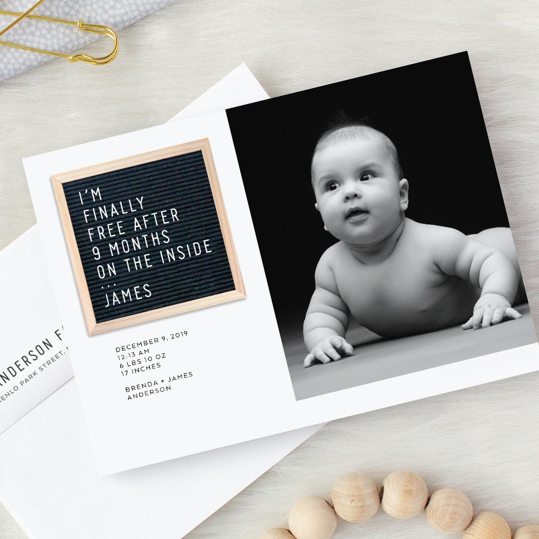 Letter Board Birth Announcements