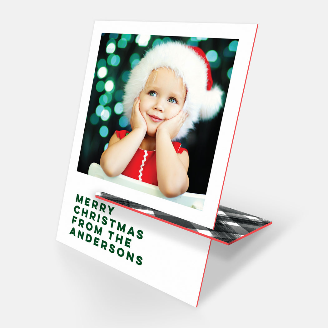 Christmas Classic Kickstand Holiday Cards – Front View