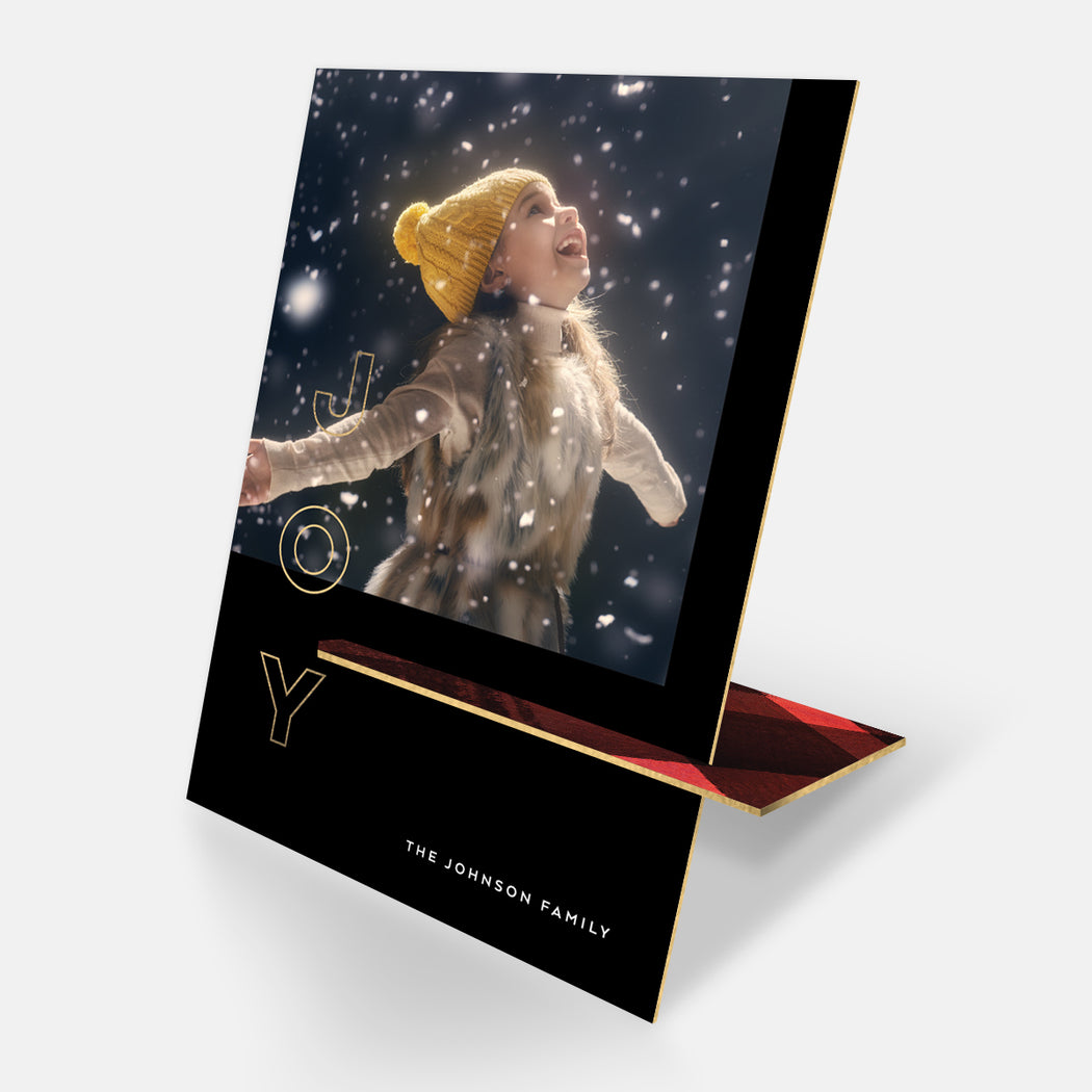 Simply Joy Kickstand Holiday Cards – Front View