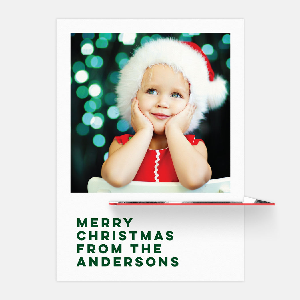 Christmas Classic Kickstand Holiday Cards – Full Frontal View