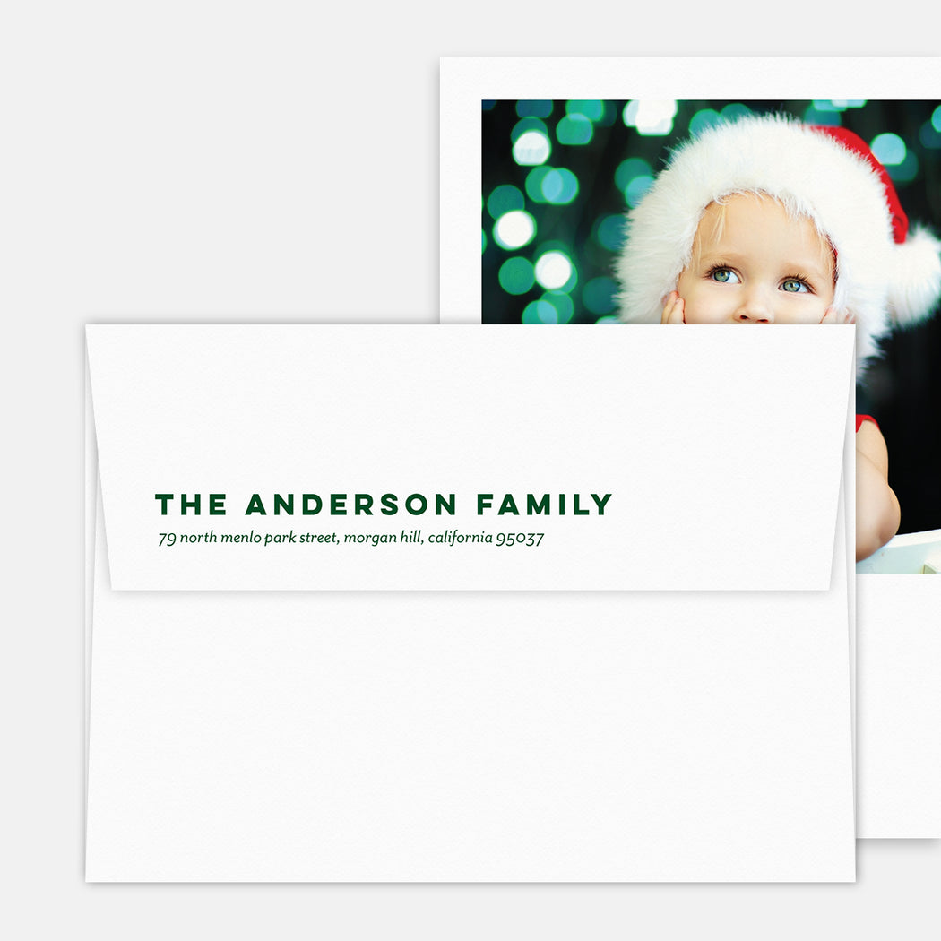 Christmas Classic Kickstand Holiday Cards – Return Address Printing