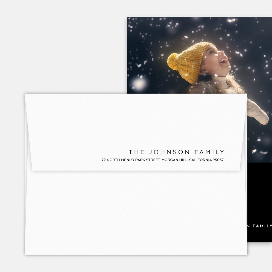 Simply Joy Kickstand Holiday Cards – Return Address