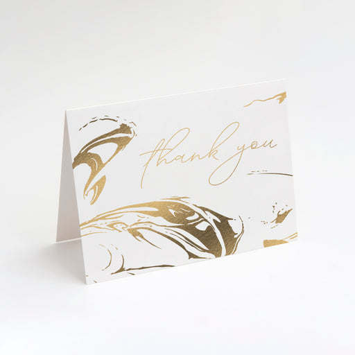 Stamped Swirl Thank You Cards – Perspective Front View