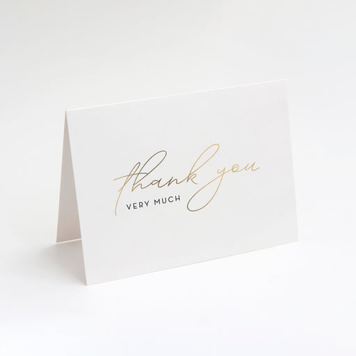 Very Much Thank You Cards – Front Perspective View