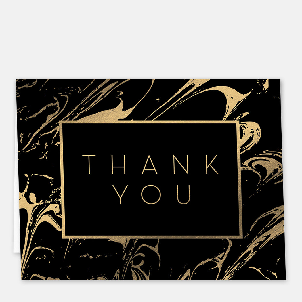 Rich Swirl Thank You Cards – Front View