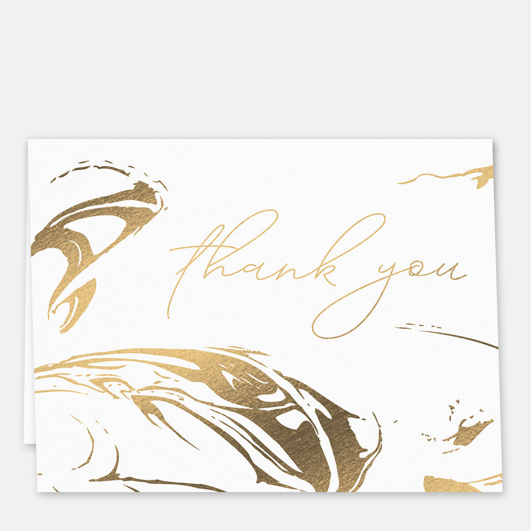 Stamped Swirl Thank You Cards – Front View