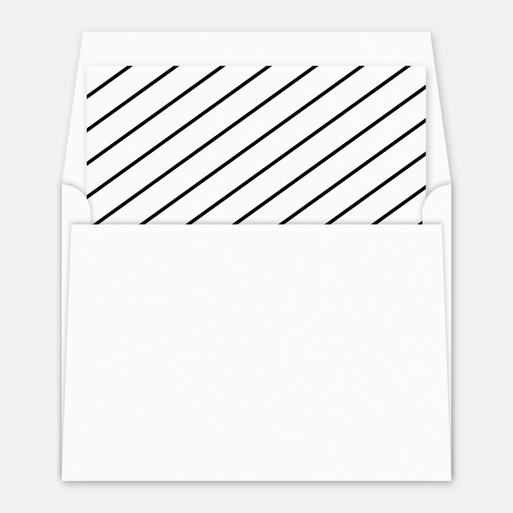 Diagonal Thanks Folded Thank You Cards – Optional Envelope Liner