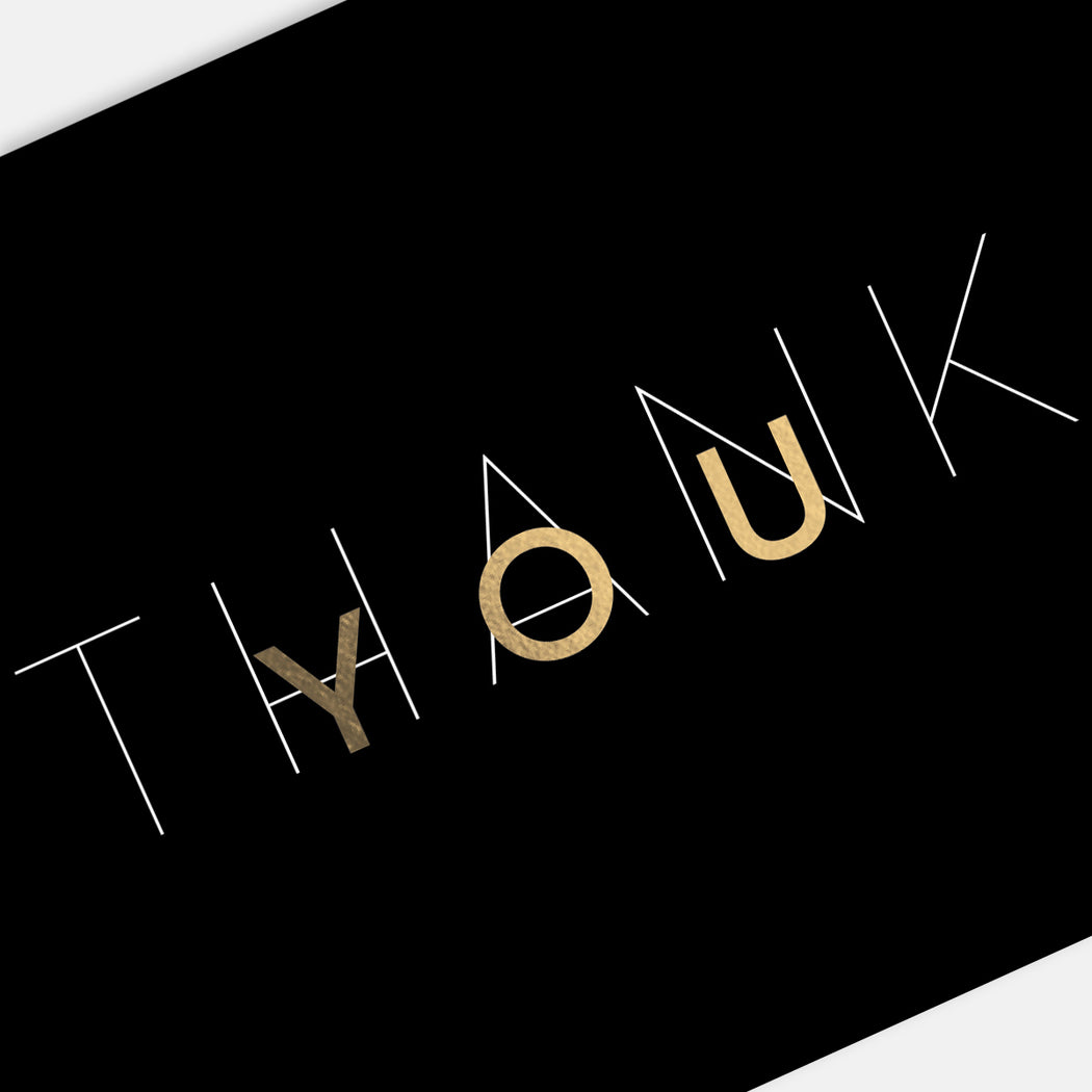Mod Thank You Cards – Detail View